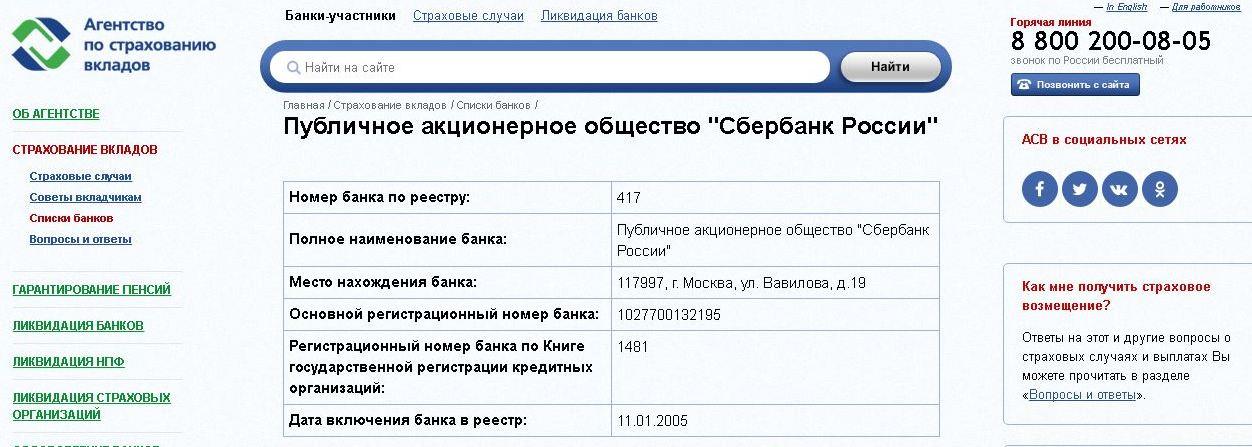 Агентство по страхованию вкладов реестр банков